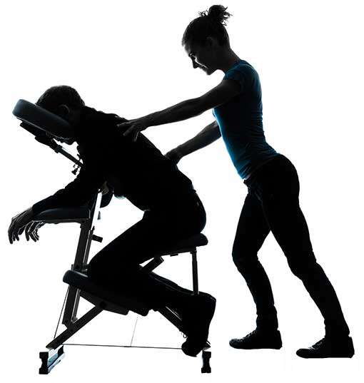 Woman Giving a Massage in Silhouette